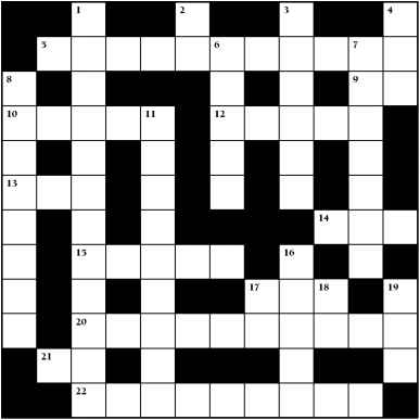 Skeleton Crossword